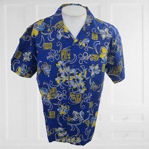 Pacific Teaze vintage Men Hawaiian camp shirt M